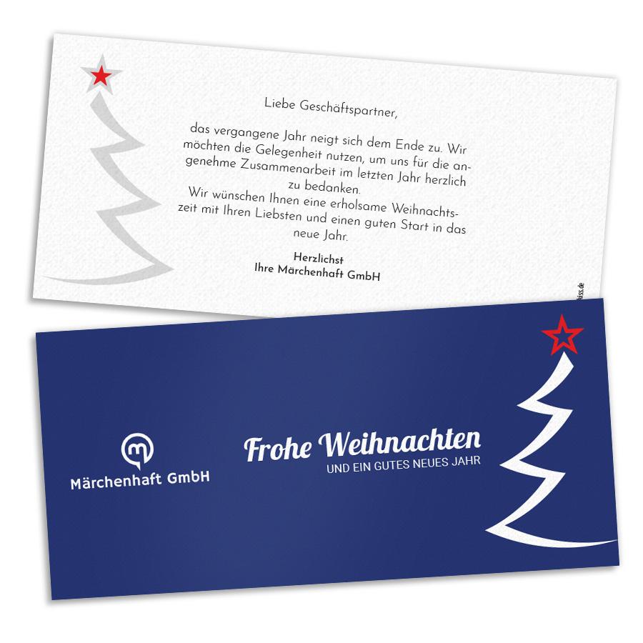 Weihnachtskarten Business.Weihnachtskarten Mit Tannenbaum Beliebte Motive Printkiss
