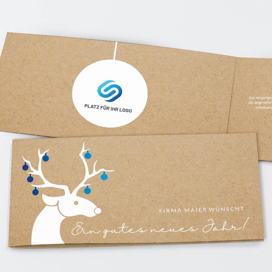 Spendenkarte Hirschdesign