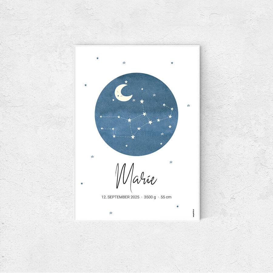 Sternzeichen Aquarell Jungfrau