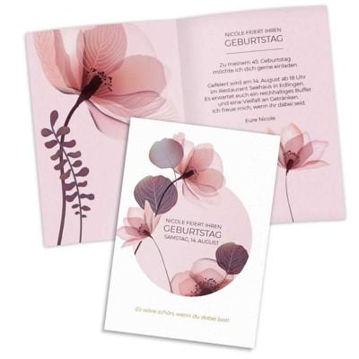Florale Einladung