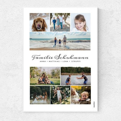 Familienfotos Poster