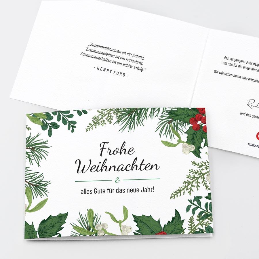 Spendenkarte Weihnachtszweige