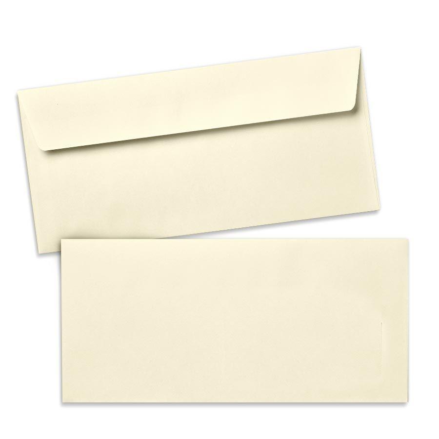 Umschlag für Lange Karte Beige, 220 x 110 mm
