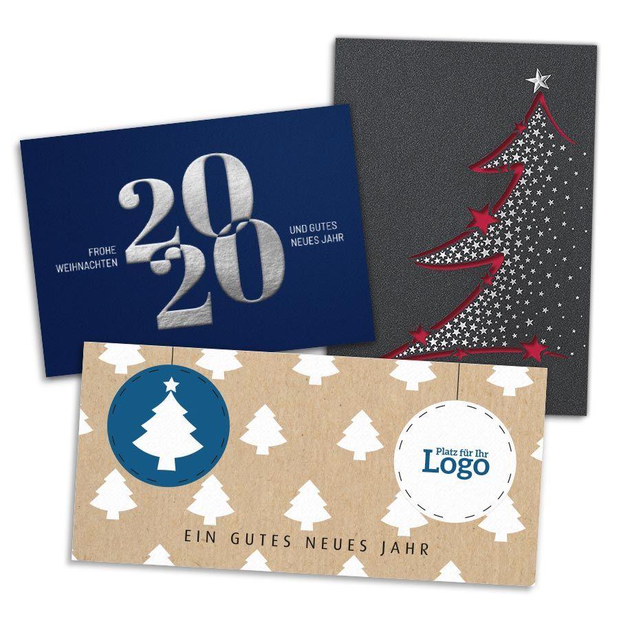 Musterkartenset Geschäftliche Weihnachskarten