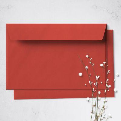 Umschlag für Große Karte Rot,  176 x 125 mm
