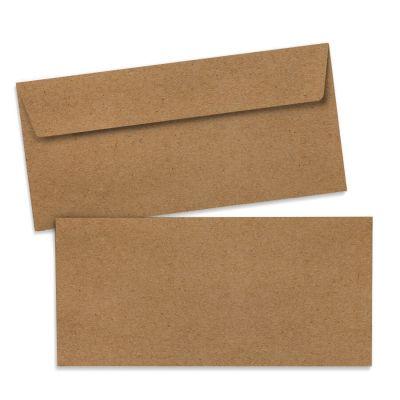 Umschlag für Lange Karte Kraftpapier, 220 x 110 mm