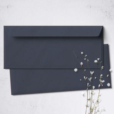 Umschlag für Lange Karte Dunkelblau, 220 x 110 mm