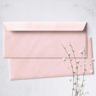 Umschlag für Lange Karte Rosa, 220 x 110 mm