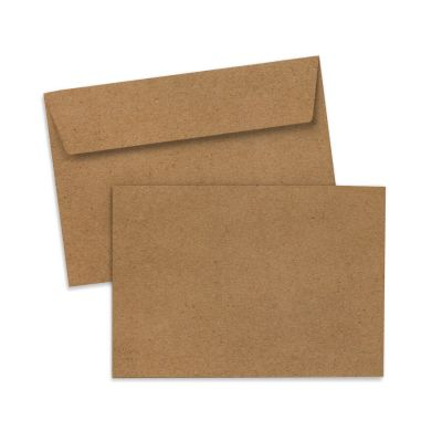 Umschlag für Postkarte Kraftpapier, 162 x 114 mm