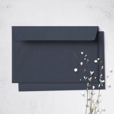 Umschlag für Postkarte Dunkelblau, 162 x 114 mm