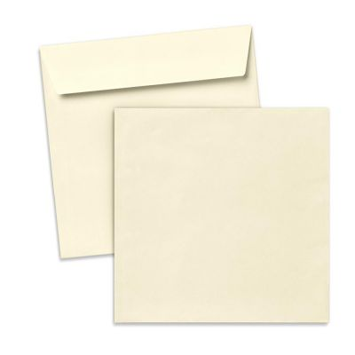 Umschlag für quadratische Karte Beige, 150 x 150 mm