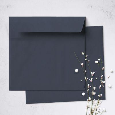 Umschlag für quadratische Karte Dunkelblau, 150 x 150 mm