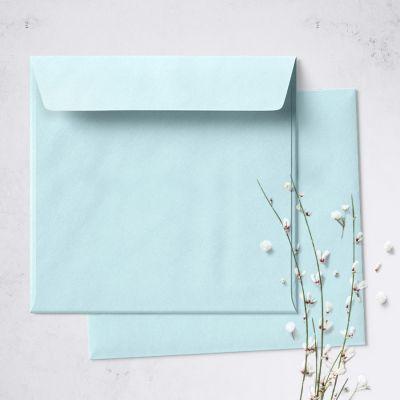 Umschlag für quadratische Karte Acqua, 150 x 150 mm