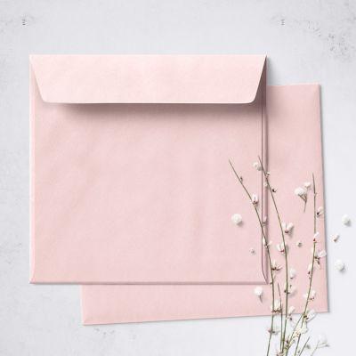 Umschlag für quadratische Karte Rosa, 150 x 150 mm