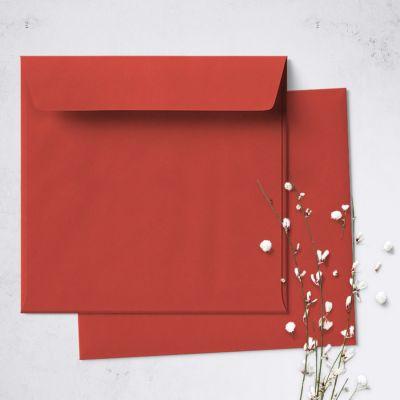 Umschlag für quadratische Karte Rot, 150 x 150 mm