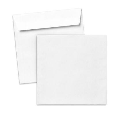 Umschlag für quadratische Karte weiß, 150 x 150 mm