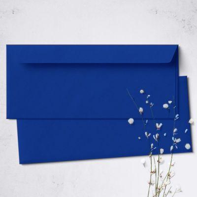 Umschlag für Lange Karte Royalblau, 220 x 110 mm