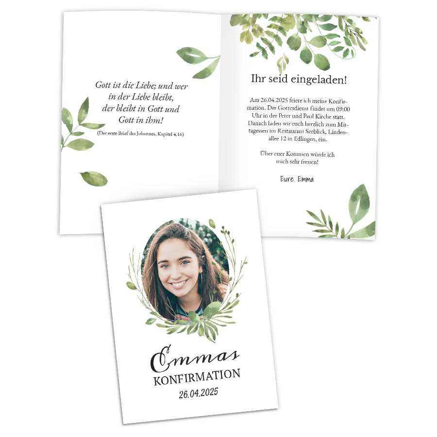 einladungskarten zur konfirmation| exklusive designs