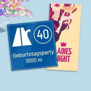 Einladungen 40. Geburtstag