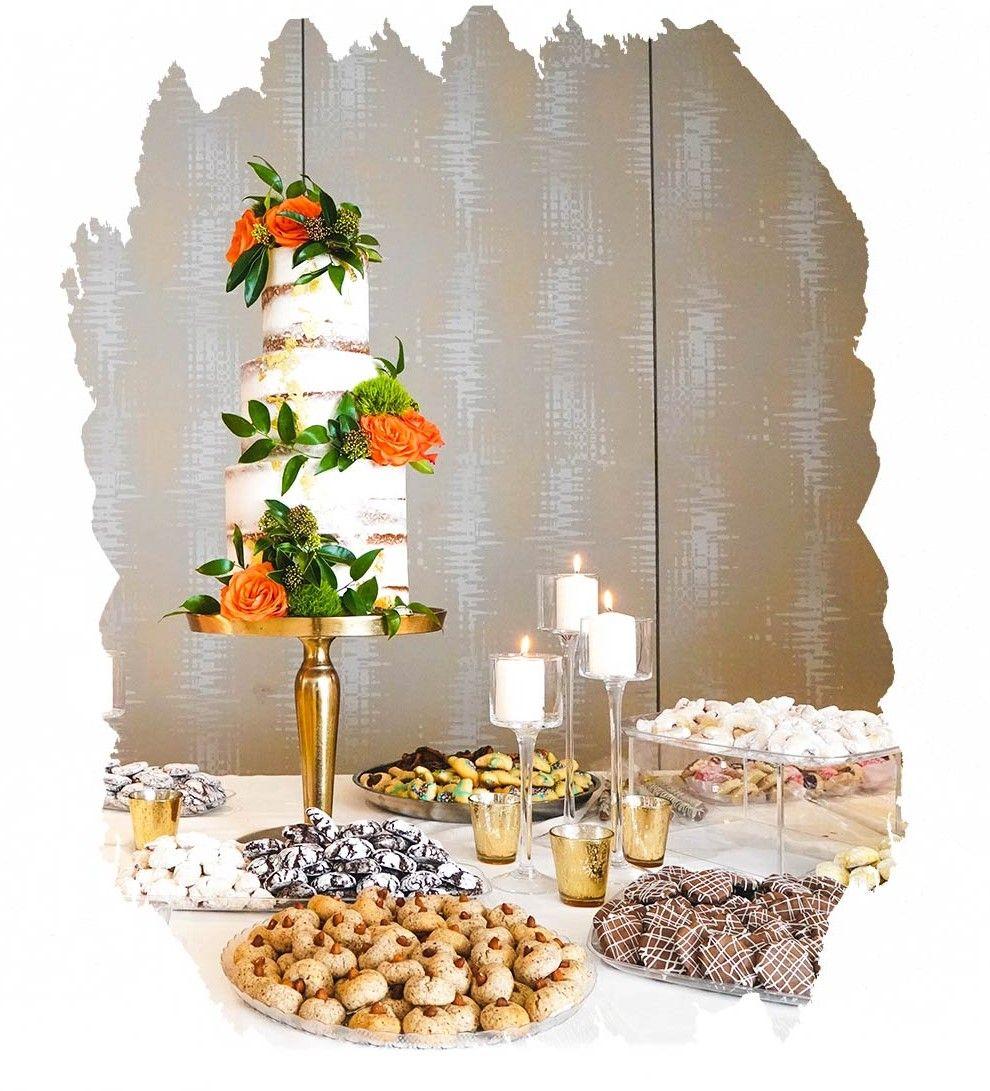 Candy Bar mit Hochzeitstorte