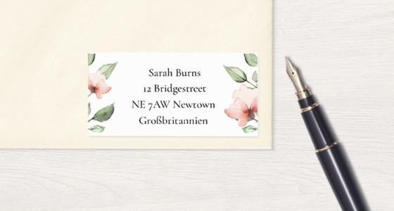 Empfängeraufkleber zur Hochzeit