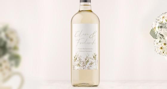Flaschenetiketten zur Hochzeit