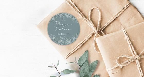 Geschenkaufkleber zur Hochzeit