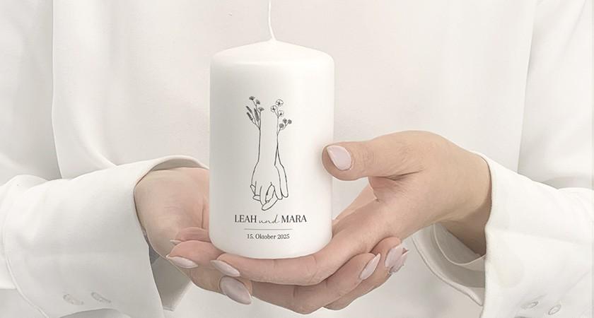 Gastgeschenk Kerze
