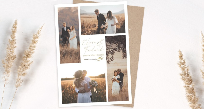 Dankeskarten zur Hochzeit