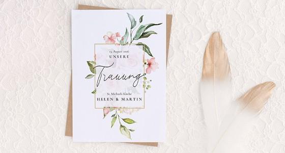 Kirchenheft zur Hochzeit