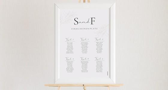 Sitzplan zur Hochzeit