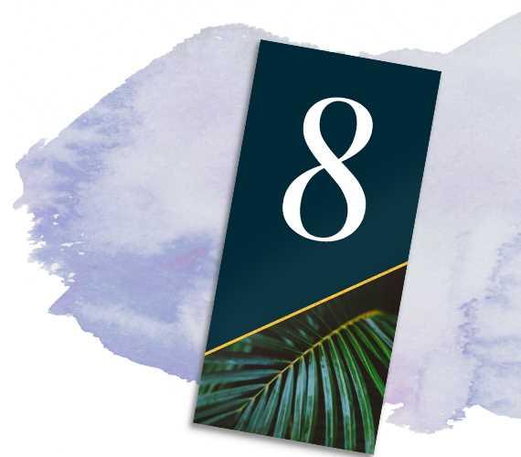 Tischnummer 'Plant'