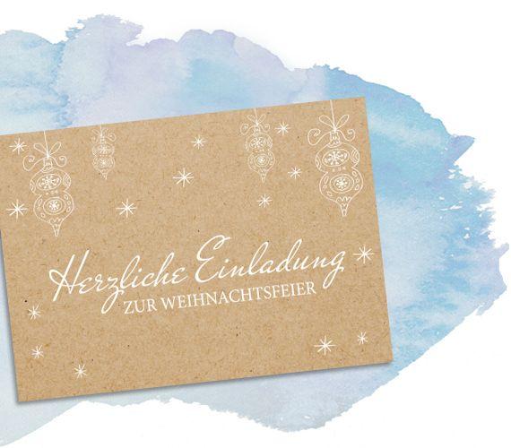 Weihnachtsfeier Einladung