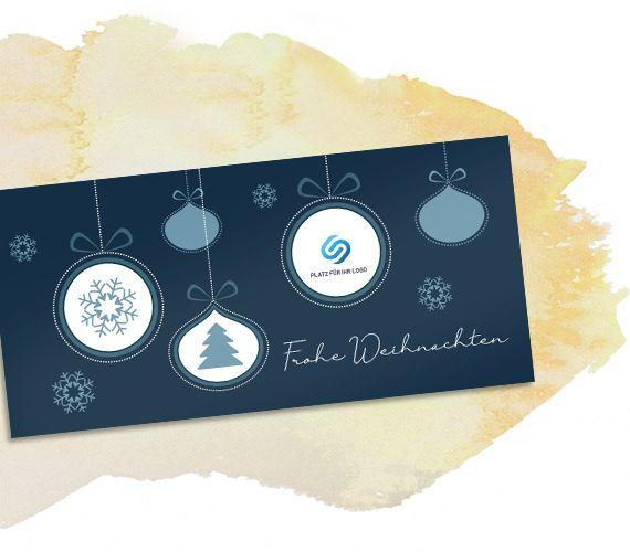 Weihnachtskarte Baumschmuck