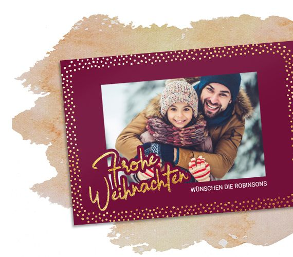 Weihnachtskarte mit Veredelung