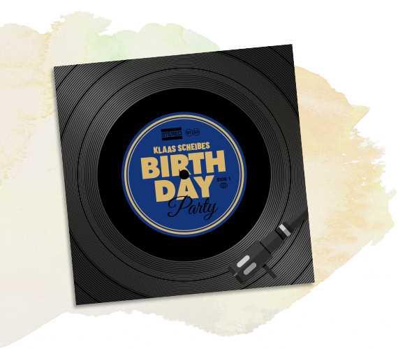 Geburtstagseinladung Vinyl