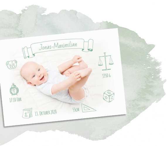 Babykarte Jungen