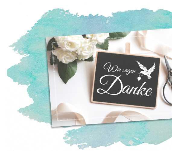 Dankeskarte zur Hochzeit