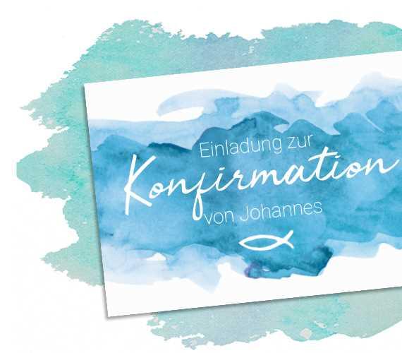 Einladungskarte Konfirmation