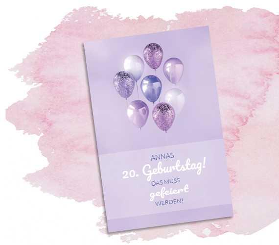 Geburtstagseinladung Luftballons