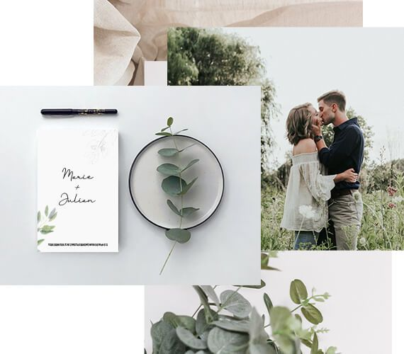 Hochzeitskarten Kollage