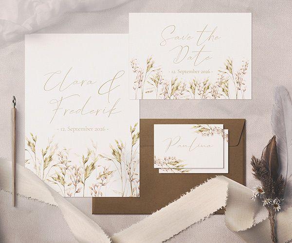 Hochzeitseinladungen Herbst