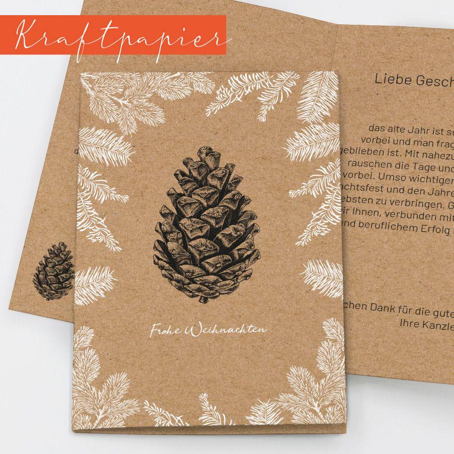Entdecke natürliche Weihnachtskarten