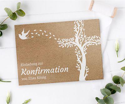 Einladungskarten Konfirmation