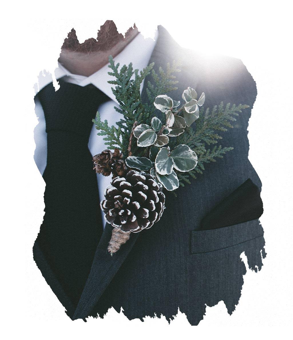 Winterhochzeit Anzug
